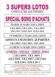 Super lotos - 3 dates en mars 2020
